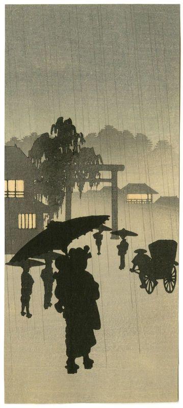 Woodblock print by Shoda Koho, ca. 1910