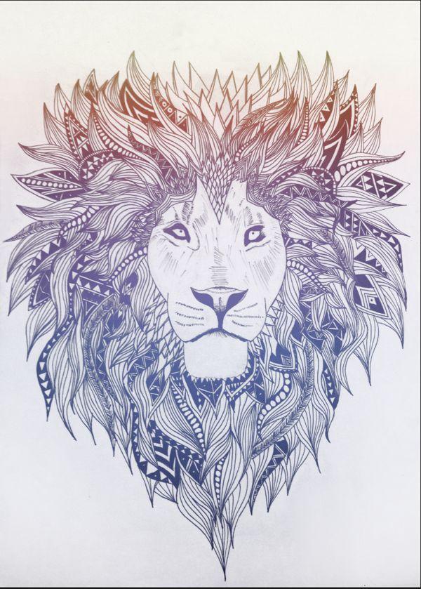 #Leão - #Ilustração.