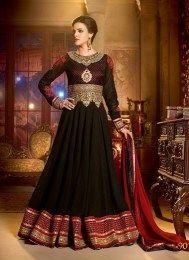 Royal Look Black Color Wedding Anarkali Suit