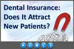 Dental Insurance: Good Source of New Patients? (Video) http://ift.tt/2nauaUS  Dental insurance is sometimes the bane of a dentists existence.  Except that dental plans can also be a significant source of new patients.  Insurance brings in new patients but at a cost said a Kentucky dentist. The fee schedules are terrible. I currently consider the write-off as a marketing expense.  When we became a provider we were able to keep some patients who might have gone elsewhere said a Texas dentist…