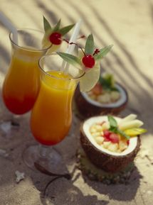 Bahama Mama Recipe | By Colleen Graham | The Bahama Mama is a great tropical cocktail that,in true tiki fashion,features two potent rums:dark and 151 proof.The coffee and coconut liqueurs along with pineapple juice add that extra tropical touch.