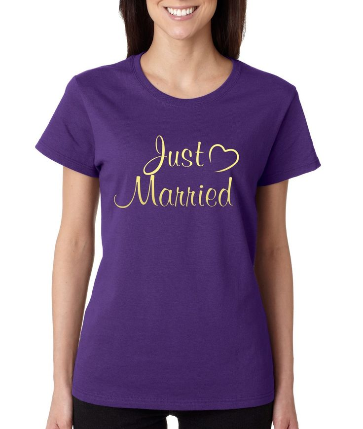 Just married Gold womens t-shirt