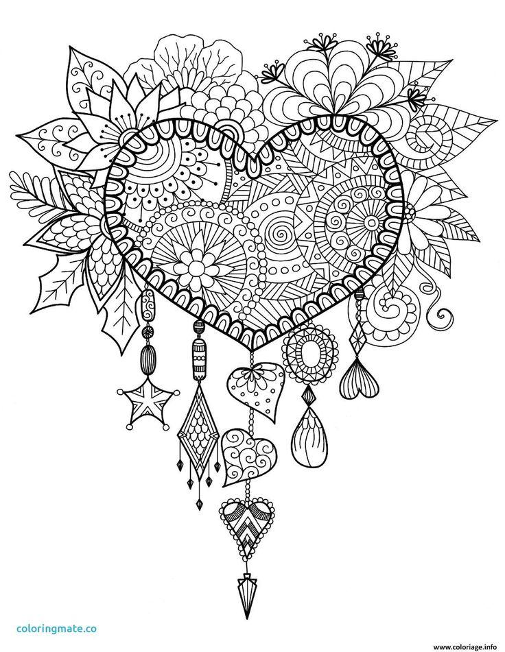 Dessin De Joli Coeur Excellent Image Coloriage Mandala Planetes Amour Lovely Coloriage Heart Coloring Pages Mandala Coloring Pages Dream Catcher Coloring Pages