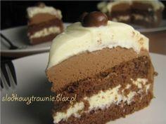 Tort czekoladowo-śmietankowy