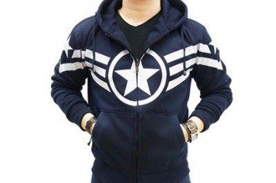 cap's navy jacket