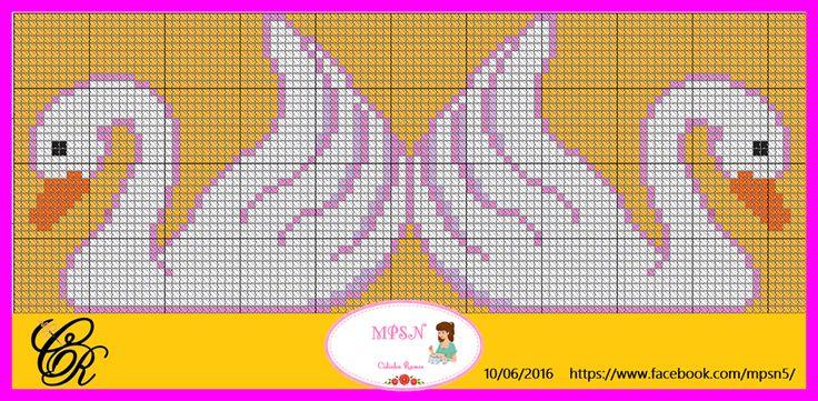 Χειροτεχνήματα: σχέδια με κύκνους για κέντημα / swan cross stitch patterns