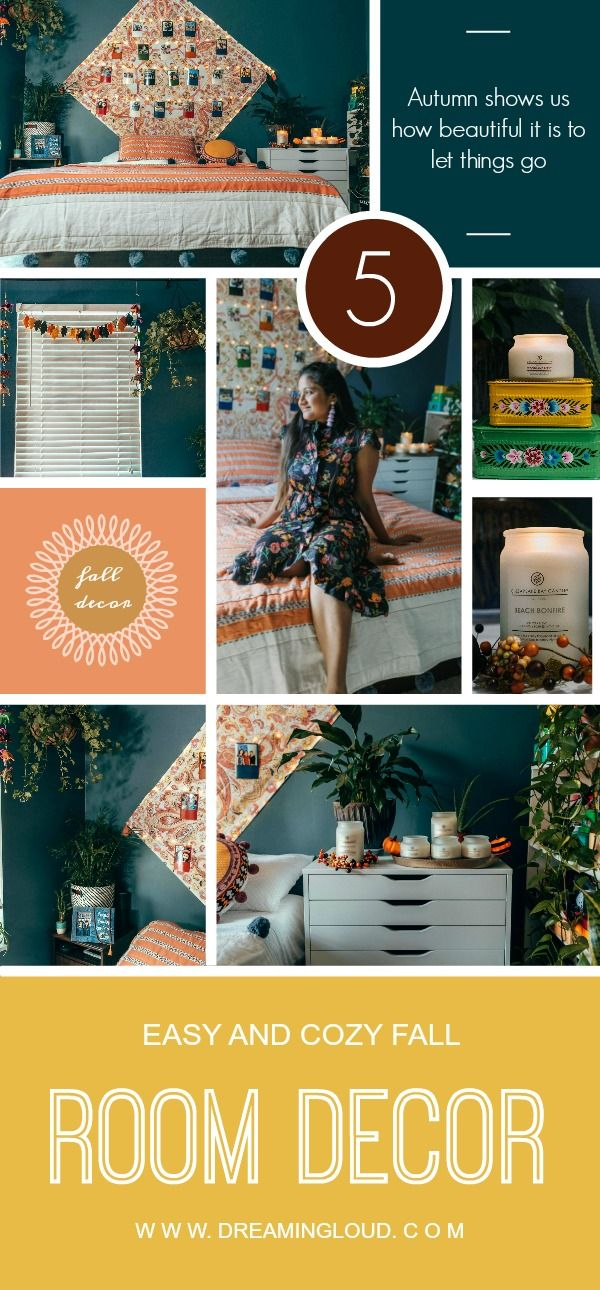 5 Cozy and Easy Fall Bedroom Decor Ideas home decor Pinterest