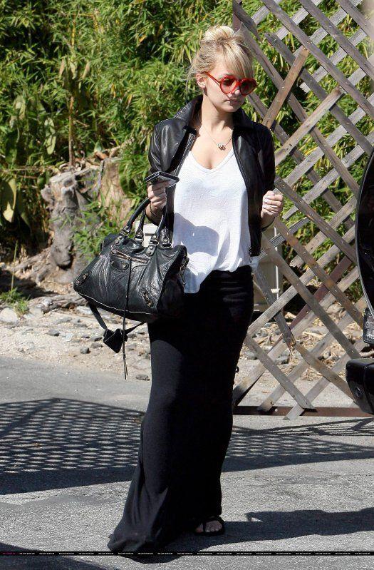 jupe noire longue