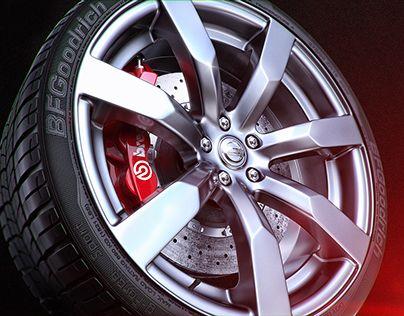 "Check out new work on my @Behance portfolio: ""Nissan GTR ZOOM wheel"" http://on.be.net/1EiZ146"