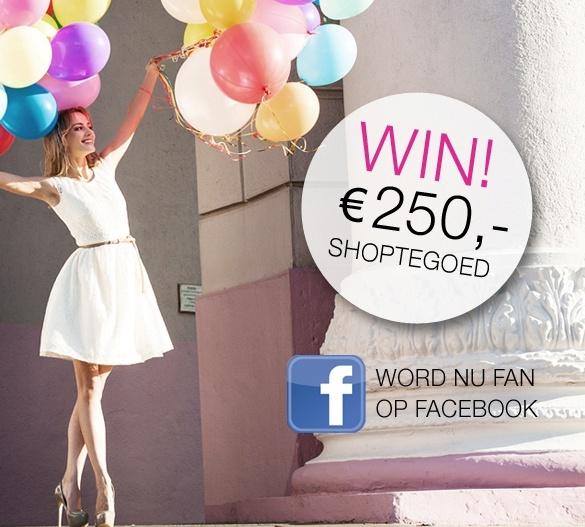 250 euro shoptegoed winnen? Very easy! Doe mee met onze Facebook actie door op deze link te klikken: https://www.facebook.com/dressesonly?v=app_194617120686550