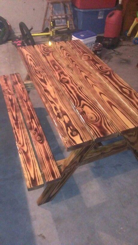 Burnt Wood Customs In 2018 Picnic Table Burning