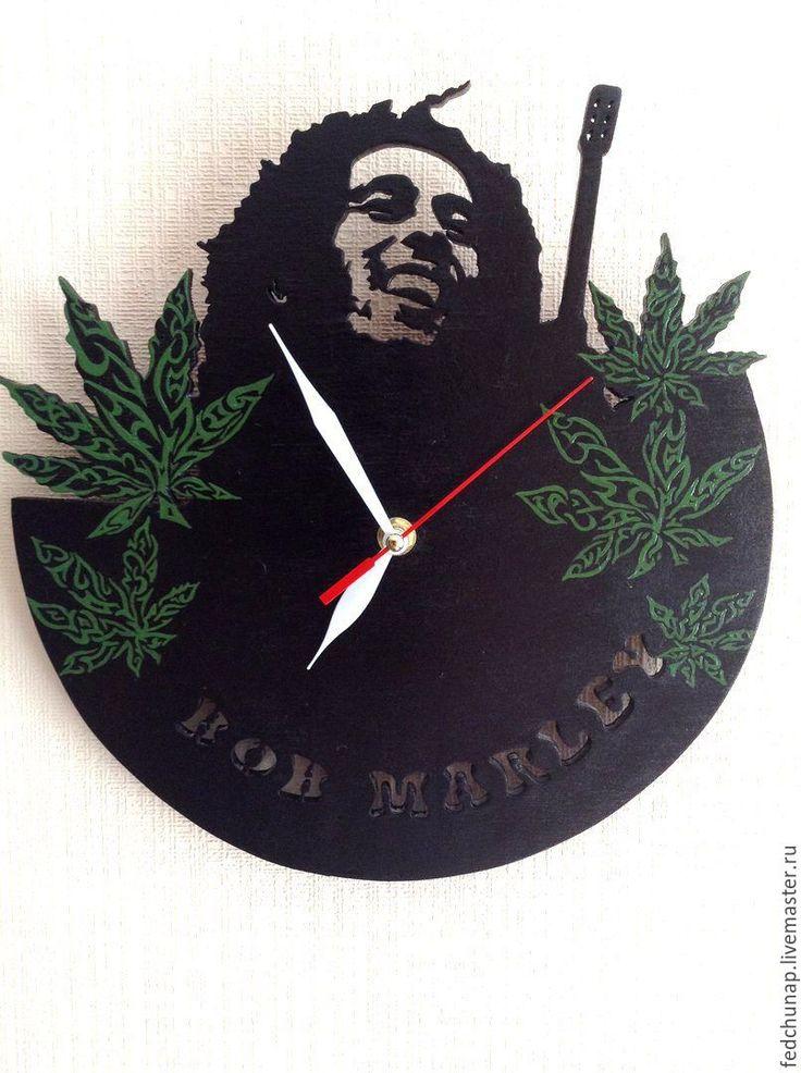 Купить Часы Боб Марли - тёмно-зелёный, боб, Боб Марли, bob marley, растафари