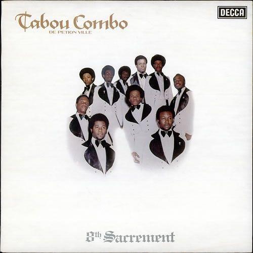 Tabou Combo / 8th Sacrement 現役ハイチのグループの74年のライヴっぽいアルバム。 ライブっぽくしなくてもよかったんですが・・・ ハイチのダンス・ミュージック「Compas」に、ソウル、ファンク、サイケのエッセンスを加えた 傑作。 名古屋のBanana recordsで格安で発見。 ハイチサウンドは70年を越えると時代の背景か、急にディスコPOPになるので 嫌いなのです。 が、70年代のハイチサウンドは強烈にかっこよくて ラテンの掛け声はあるわ、アコーディオンあるわ、ティンバスあるわ、 ギターメロあるわ、で曲の構成が完璧といえます。