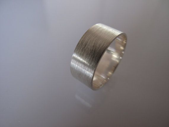 Handcrafted Sterling Silver Flat Band Brushed by artisansgalleria, $39.99