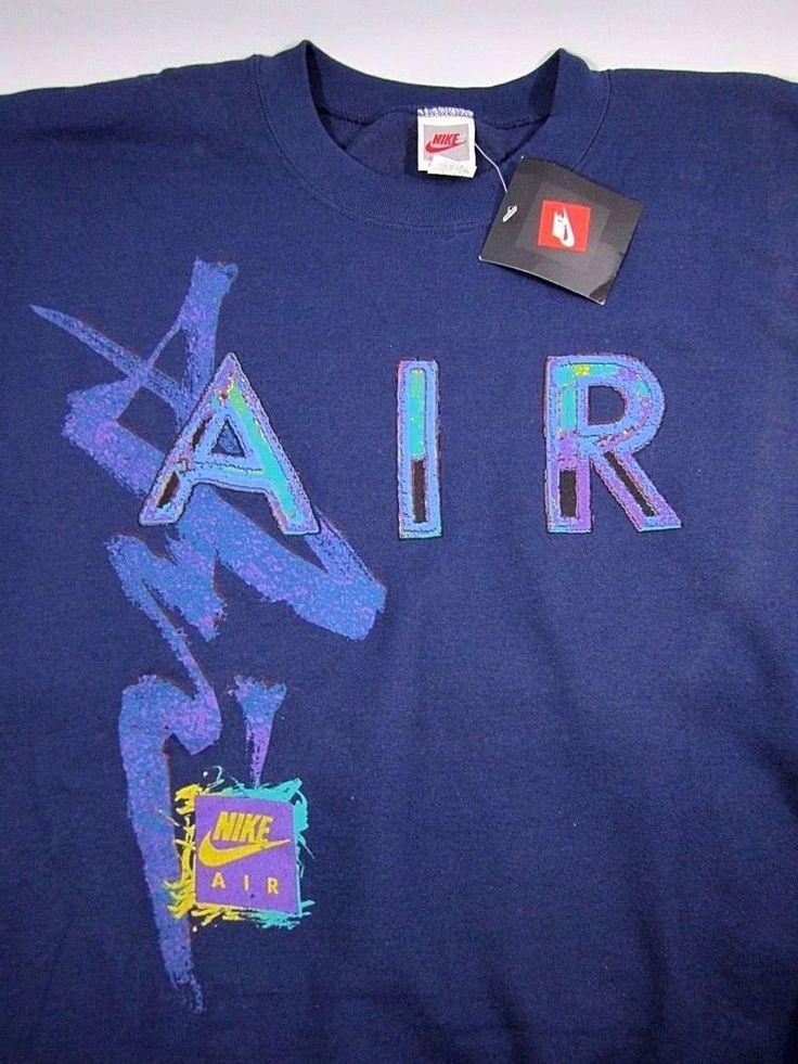 NWT NikeTown TRUE Vintage NIKE AIR Flight Jordan Neon 80s Sweatshirt XL RARE #Nike #SweatshirtCrew