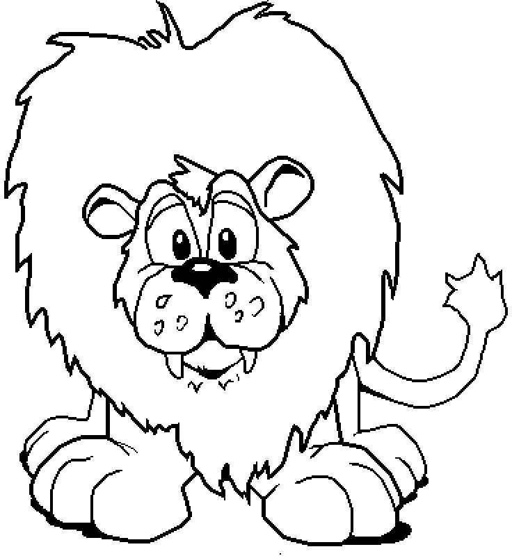 Disegni Da Colorare Per Bambini Piccoli Art Clip Art Lion Clipart