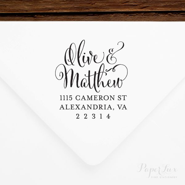 """Get a custom stamp for yourself, or give as a gift to newlyweds, for the  holidays, or for a house warming. This is a personalized, rubber stamp with  a wood mounted handle. Makes addressing envelopes a breeze!  • The smaller size (1.5""""x1.5"""" and 2""""x2"""") stamps fit well on any envelope,  front or back.  • The larger size (2.5""""x 2.5"""") stamp fits stamp fits best on the back flap  of an A6 (6.5""""x4.75""""), A7 (7.25""""x5.25""""), or larger envelope.  •PLEASE NOTE:For international friendly sales,all…"""