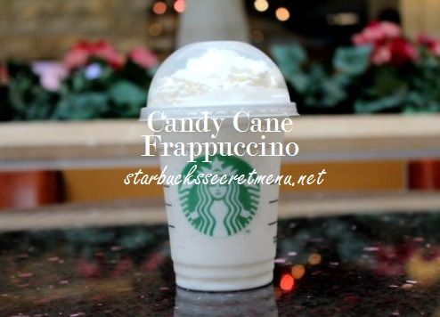 Treat yourself to a Candy Cane Frappuccino! #StarbucksSecretMenu Order by recipe here: http://starbuckssecretmenu.net/starbucks-secret-menu-candy-cane-frappuccino/   Simple and tasty!
