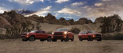 "Three #Toyota products get a ""lift"" from Toyota Racing Development. Special 4x4 versions of the Tacoma, Tundra, & 4Runner go on sale this fall."