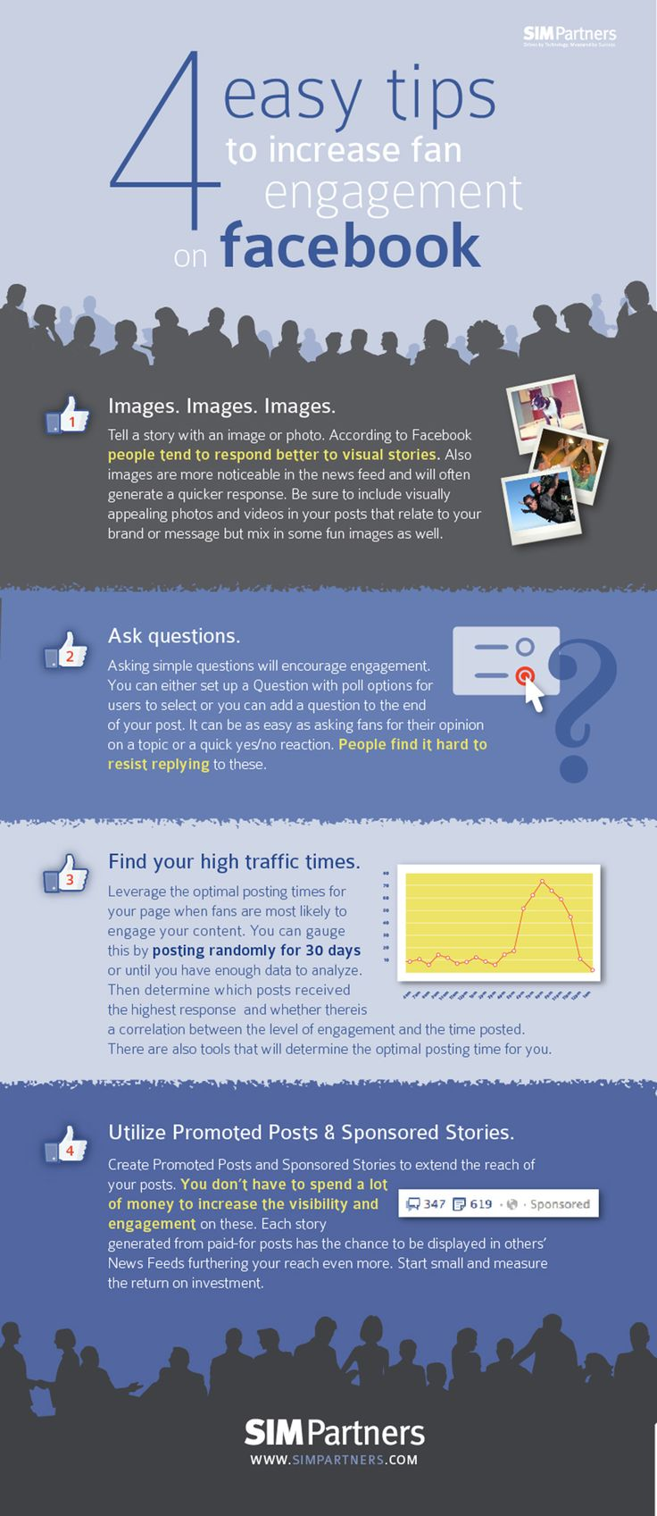4 Easy Tips to Increase Fan Engagement on #Facebook - #SocialMedia #Infographic