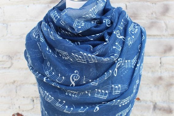 Etsy listing at https://www.etsy.com/listing/183642686/infinity-scarf-with-music-notes-print