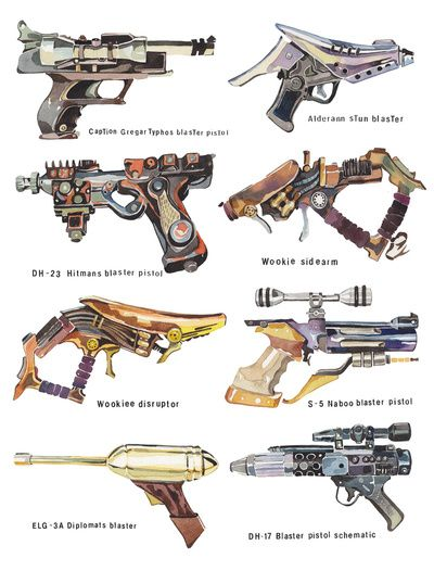 """Star Wars Gun Collection"" by Holly Exley"