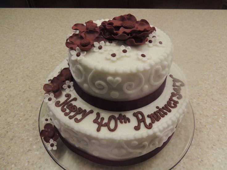 Ruby Wedding Anniversary Cake Ideas: Best 20+ 40th Anniversary Cakes Ideas On Pinterest