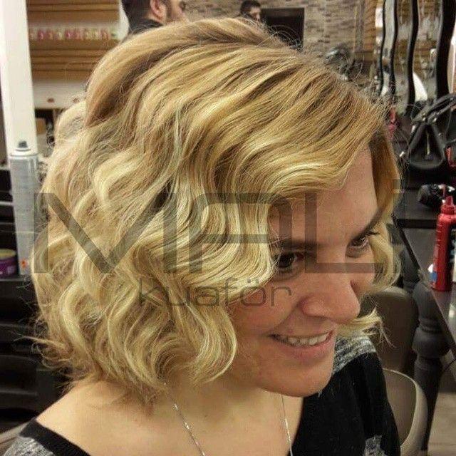 Kısa dalgalı saçlar... #kisadalgali #dalgalisac #hairwave #hairstyle