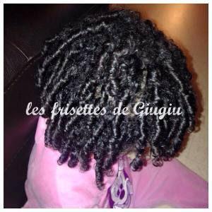 Le finger Coil natural curly hair kid e Les cheveux frisés de ma fille métiss