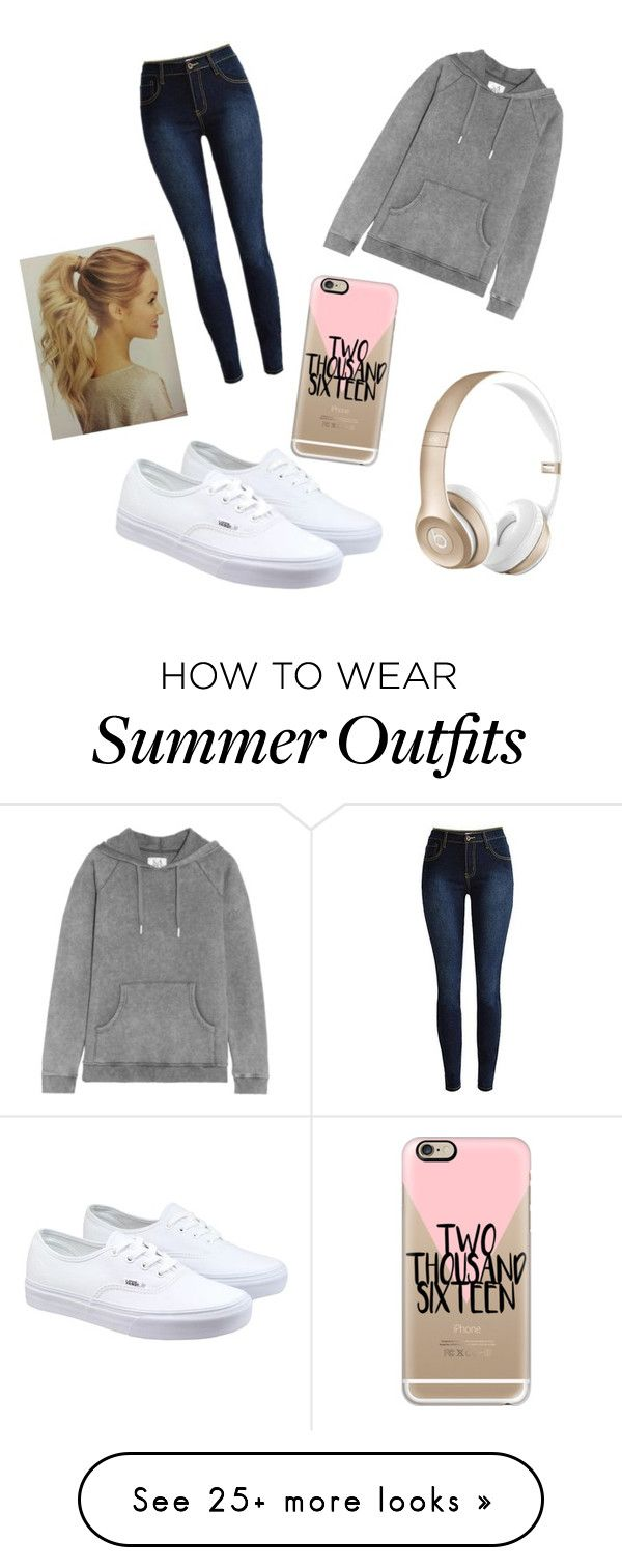 """Casual Outfit"" by mackz360 on Polyvore featuring Vans, Zoe Karssen, Beats by Dr. Dre, Casetify, women's clothing, women's fashion, women, female, woman and misses"