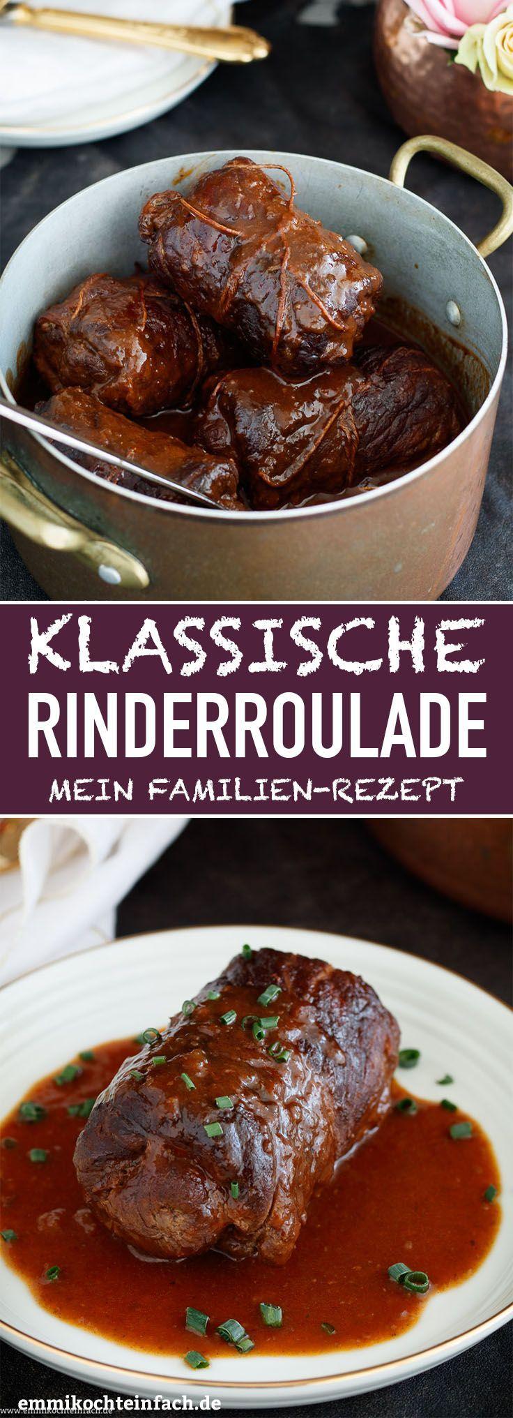 Klassische Rinderroulade – mein Familienrezept – #cuisine #Familienrezept #klass…