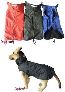 Waterproof Dog Coat Jacket Fleece Lined All Sizes Reflective Piping | eBay