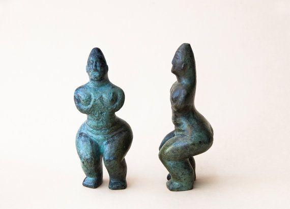 Abstract Woman Bronze Figurine Metal Art Sculpture by GreekMythos, €76.00