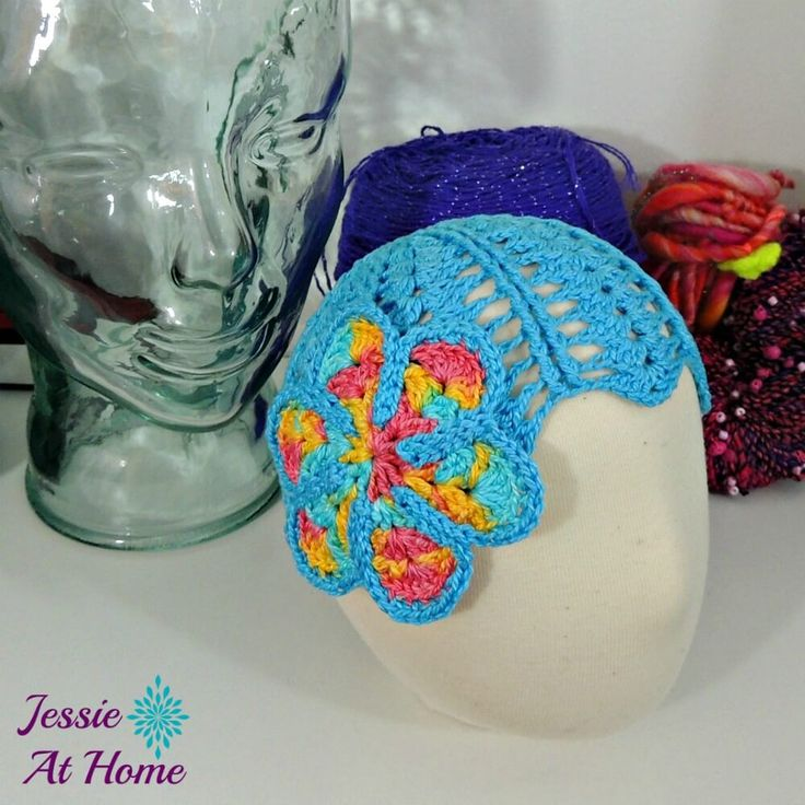 After completing the Grace and Charm baby dress, I had plenty of yarn left for a cute little crochet hat!