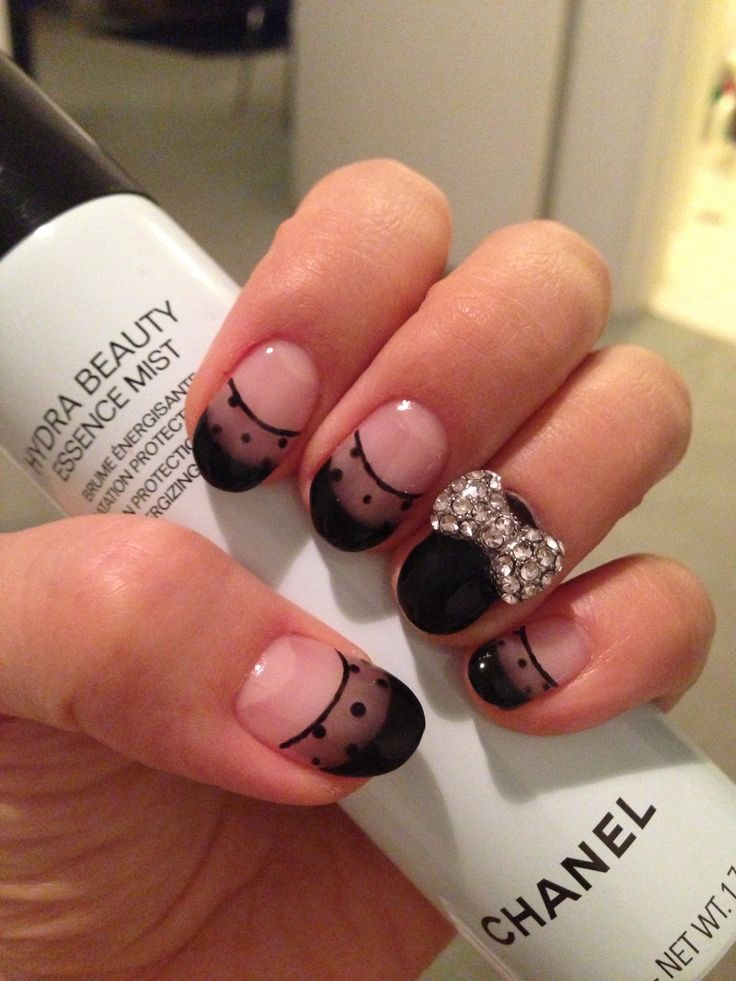 Black See-through Nail Art by Ari
