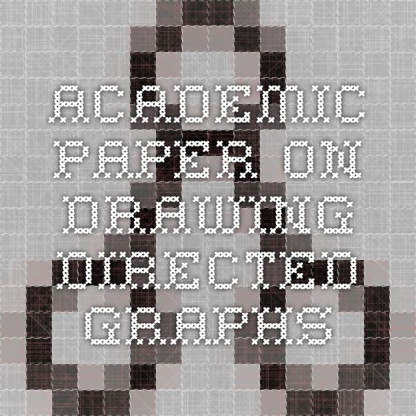 Academic paper on drawing directed graphs