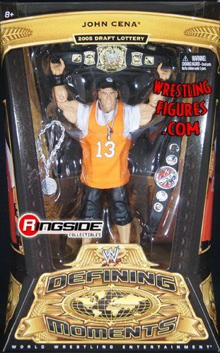 JOHN CENA - WWE DEFINING MOMENTS 5 WWE TOY WRESTLING ACTION FIGURE by MATTEL. $22.99. John Cena (Raw 2005 - Draft Lottery). JOHN CENA - WWE DEFINING MOMENTS 5 WWE TOY WRESTLING ACTION FIGURE