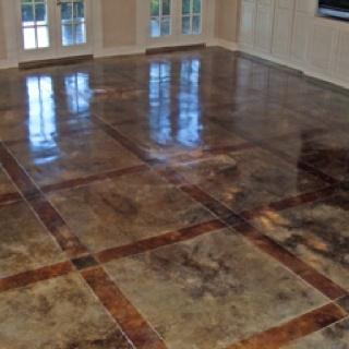 Cement floor option