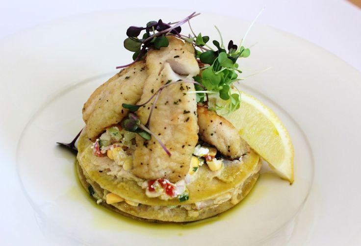 Fish Tortilla with Sweetcorn Salsa