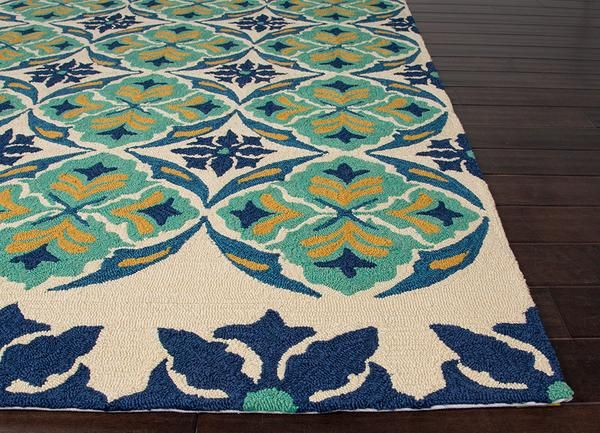 Inspired by the beauty of Spanish tile art and architecture, our Terra outdoor patio rug brings a transitional flair to any indoor or outdoor living space. Expertly hand-hooked polypropylene showcases