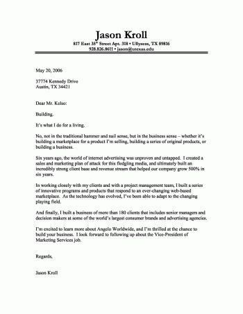The 25+ best Cover letter generator ideas on Pinterest Cv - sample marketing cover letter example