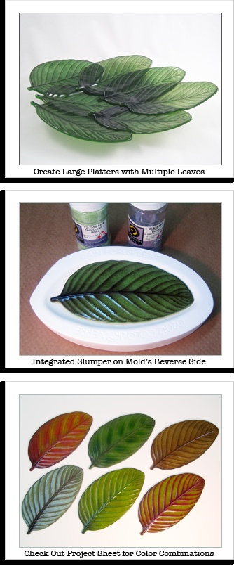 Glass Fusing leaf mold - I would so love to own this mold.