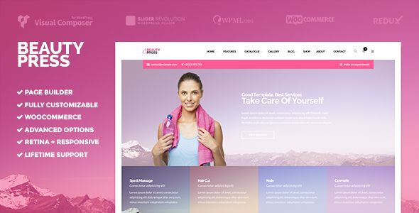 wpthemeclub: ER BeautyPress | Beauty Spa WordPress Theme