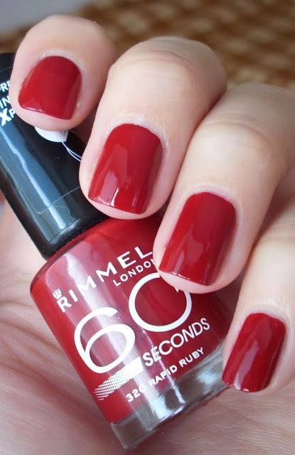 Rimmel nail polish #320 in Rapid Ruby >> deep cranberry red