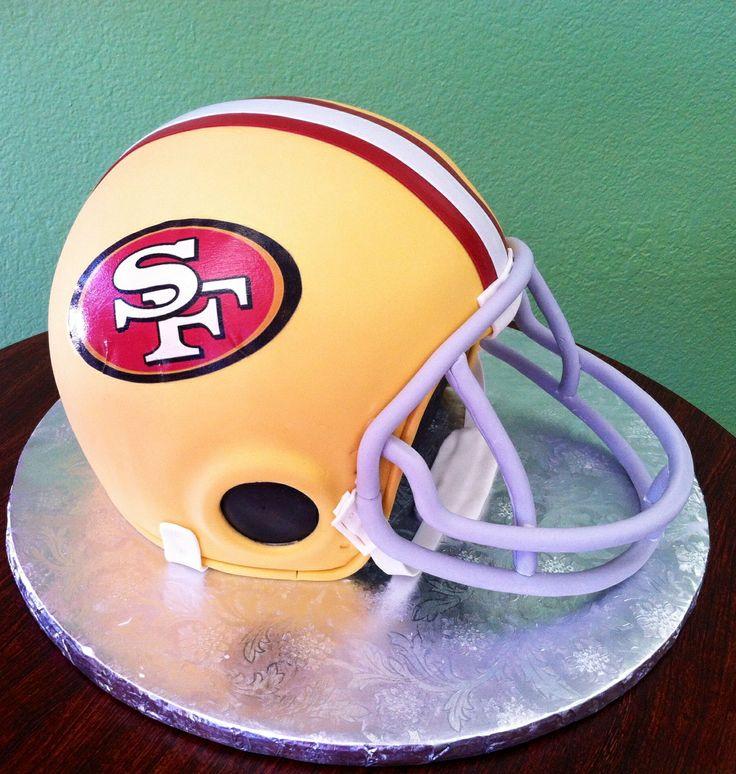 Football And Helmet Cake