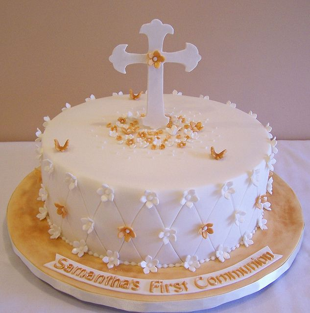 First Communion cake by cakespace - Beth (Chantilly Cake Designs), via Flickr