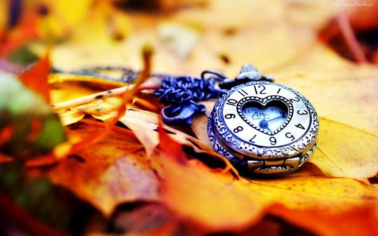 Zegarek, Jesienne, Liście