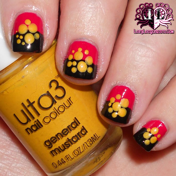 Lazy Lacquerista: Aussie Nails :: Australian Aboriginal Fan Nail Art