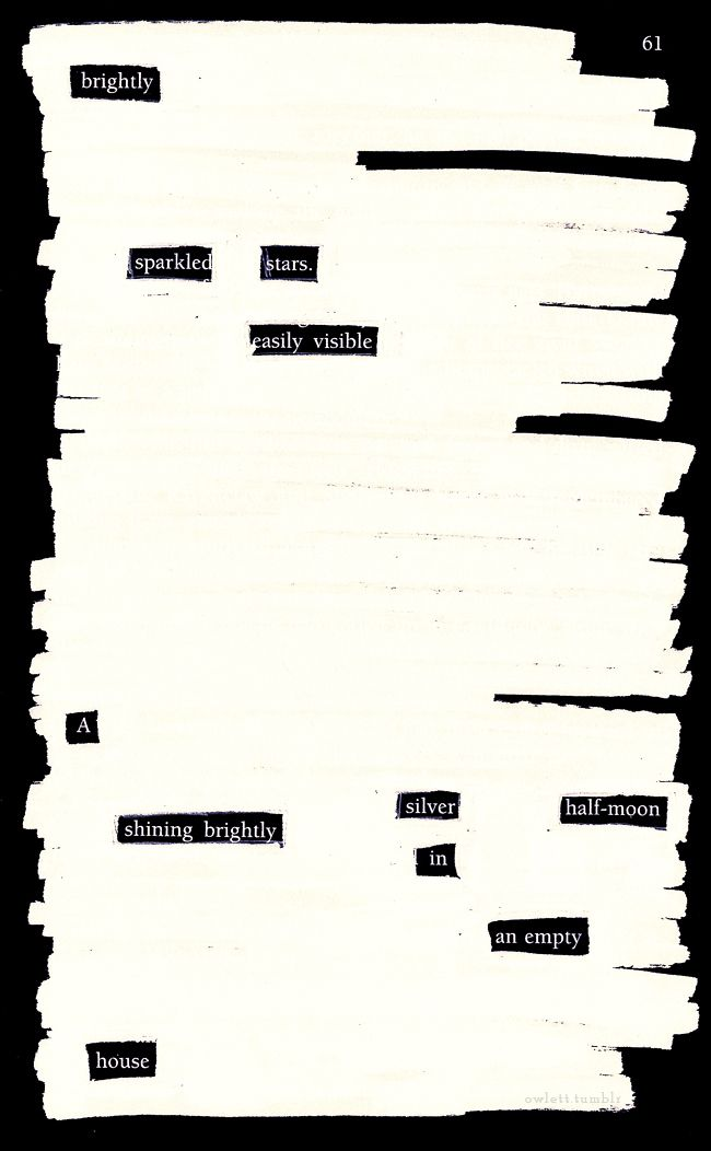17 Best images about Black Out Poetry- AH MAZING on Pinterest   A ...