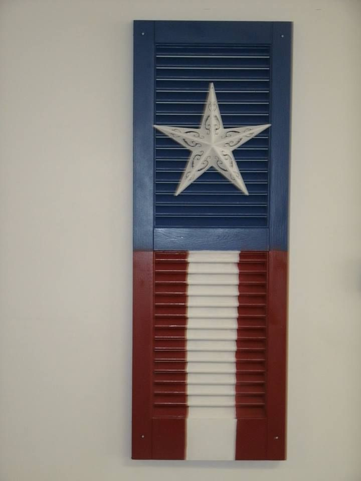 Red White Blue Shutter - Painted Star